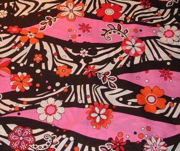Zebra & Flowers on pink